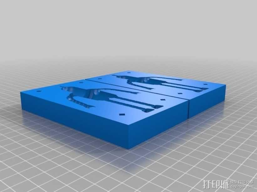 Bender Bendie机器人制作模具 3D模型  图1