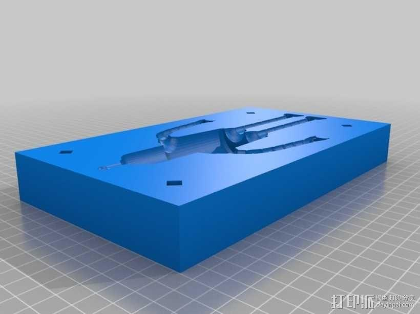 Bender Bendie机器人制作模具 3D模型  图2