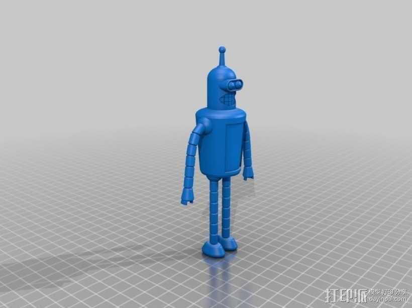 Bender Bendie机器人制作模具 3D模型  图4