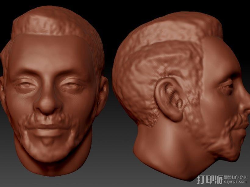 写实人物 半身像  3D模型  图1