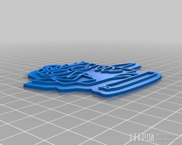 热带鱼 徽章 3D模型  图1