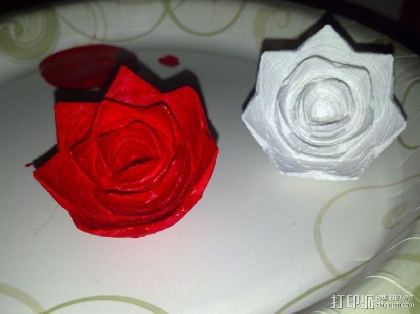 玫瑰花 花朵 3D模型  图3