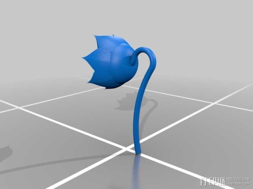 玫瑰花 花朵 3D模型  图6