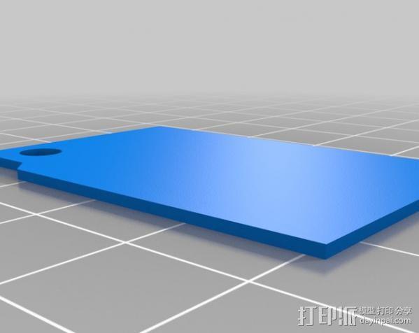 火炬钥匙坠 3D模型  图2