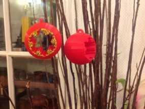 球形雪花圣诞装饰品 3D模型