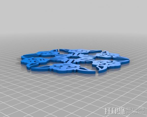 尤达雪花 3D模型  图3