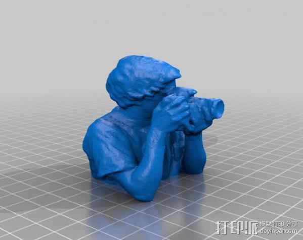 摄影师 雕塑 3D模型  图2