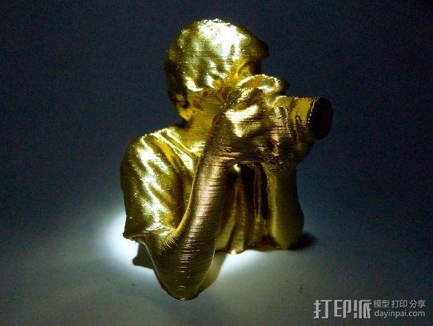 摄影师 雕塑 3D模型  图1