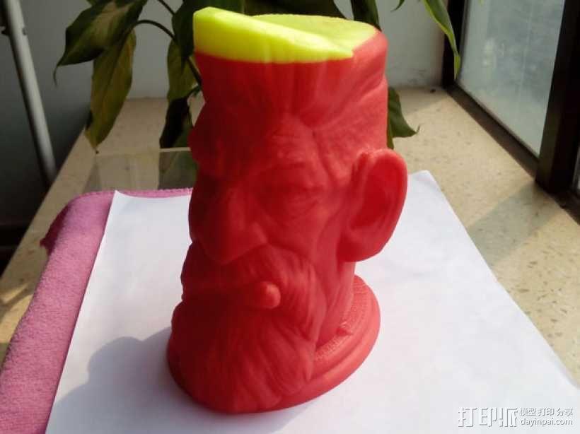 僵尸猎人头雕像 3D打印制作  图2