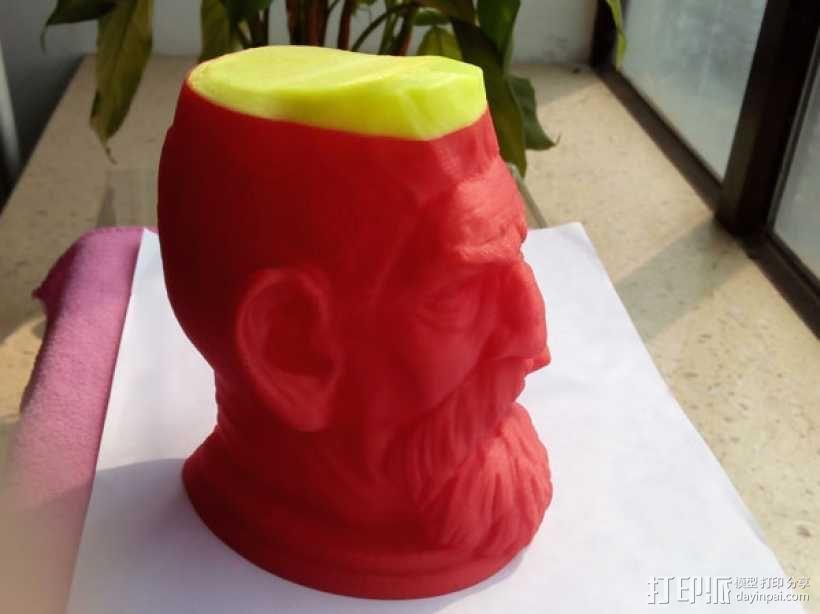 僵尸猎人头雕像 3D打印制作  图1