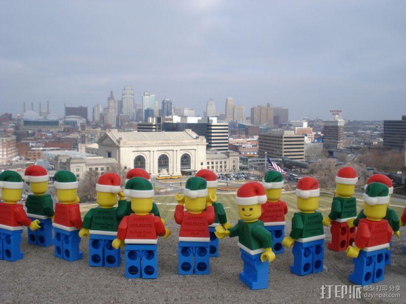 圣诞乐高堪萨斯城的人 3D模型  图1