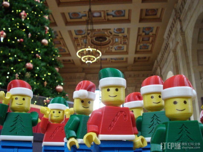 圣诞乐高堪萨斯城的人 3D模型  图7