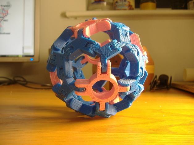 圆球多面体 3D模型  图2