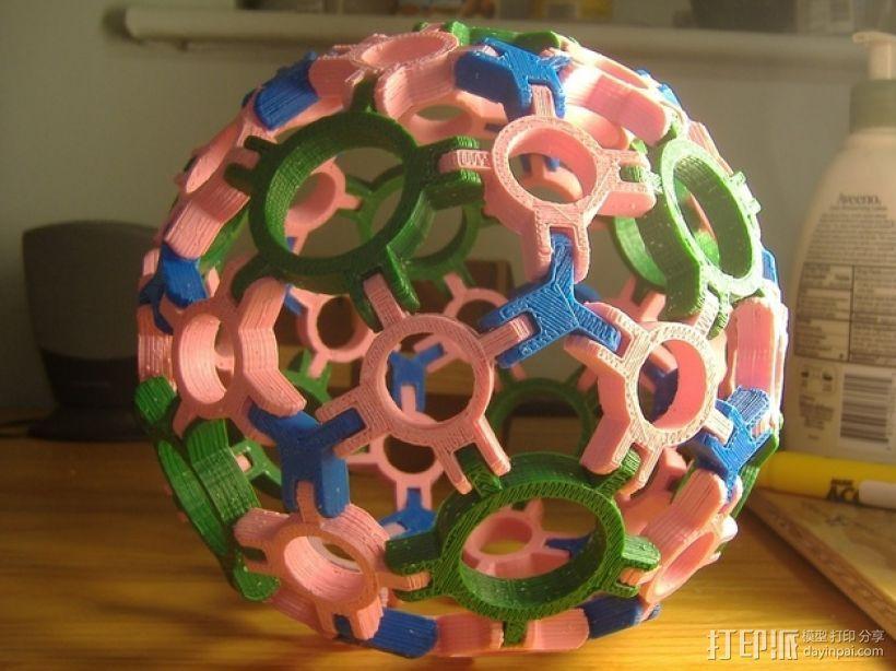 圆球多面体 3D模型  图1