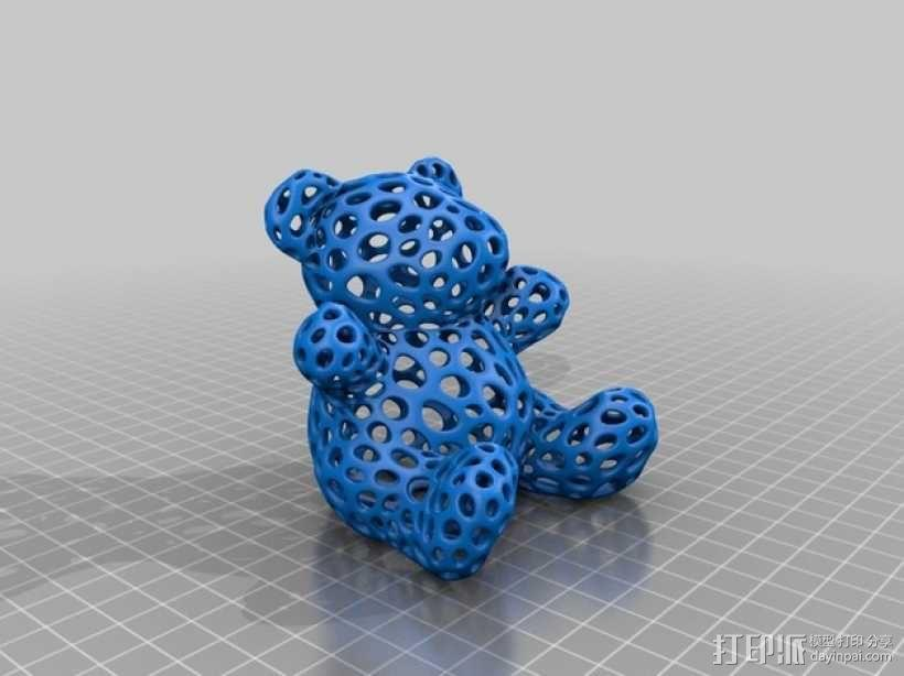 泰迪熊小玩偶 3D模型  图1