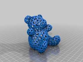 泰迪熊小玩偶 3D模型