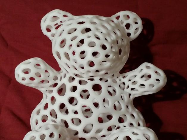 白色的泰迪熊 3D打印制作  图3