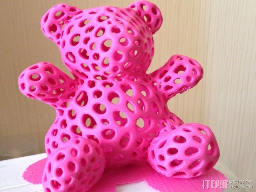 粉红 泰迪熊 3D打印制作  图2