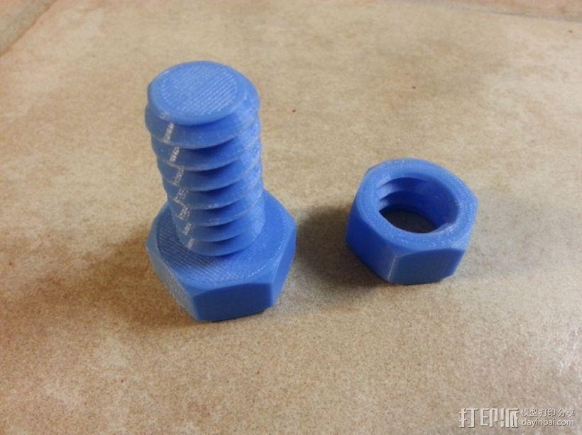 螺帽 螺钉 配件 3D打印制作  图2