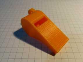 红色的口哨  3D打印制作