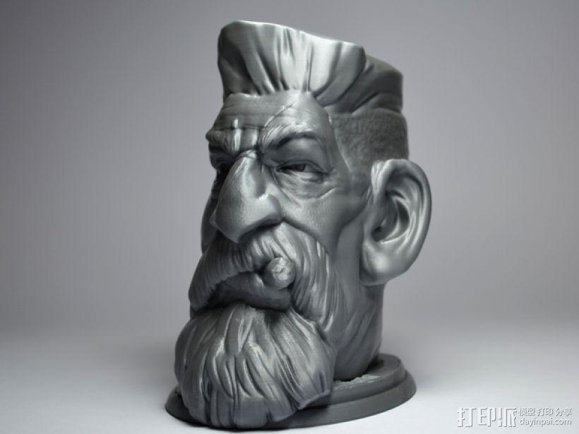 僵尸猎人头 3D打印制作  图3