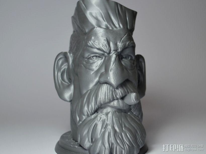 僵尸猎人头 3D打印制作  图2