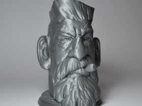 僵尸猎人头 3D打印制作
