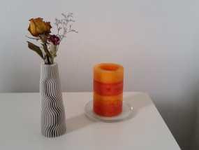 地层 花瓶 3D打印制作