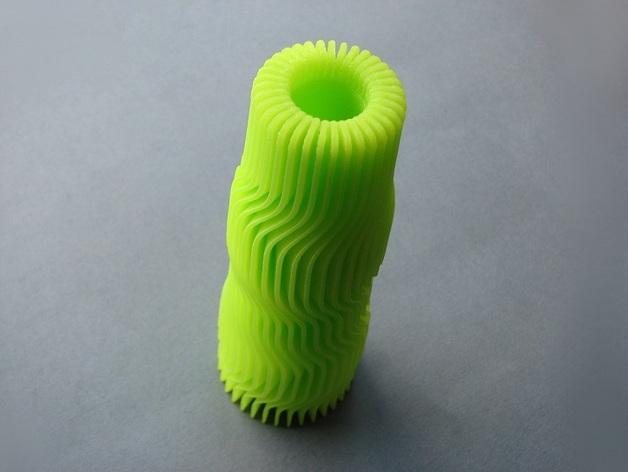 黄色 花瓶 3D打印制作  图3