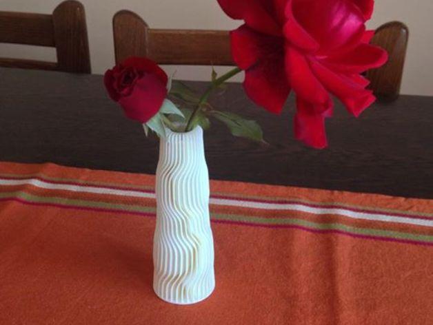 黄色 花瓶 3D打印制作  图2