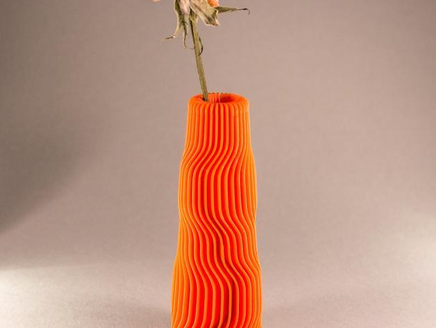 黄色 花瓶 3D打印制作  图1