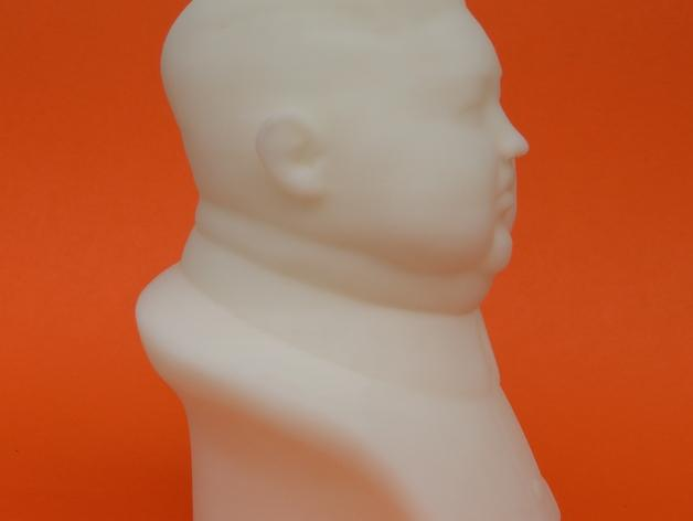金正恩 雕像 3D打印制作  图1