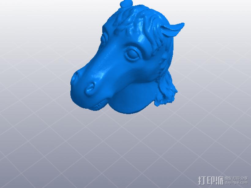 十二生肖 马头 模型 3D模型  图1