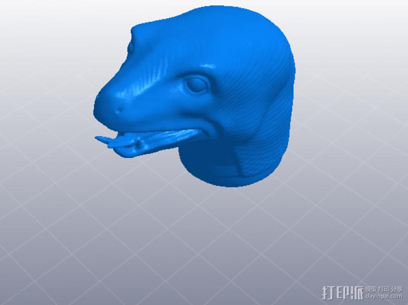 十二生肖 蛇头  模型 3D模型  图1