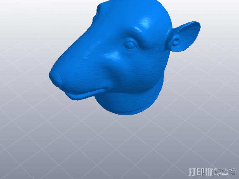 十二生肖 鼠头  模型 3D模型  图1
