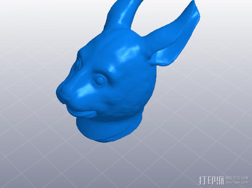 十二生肖 兔头 模型 3D模型  图1