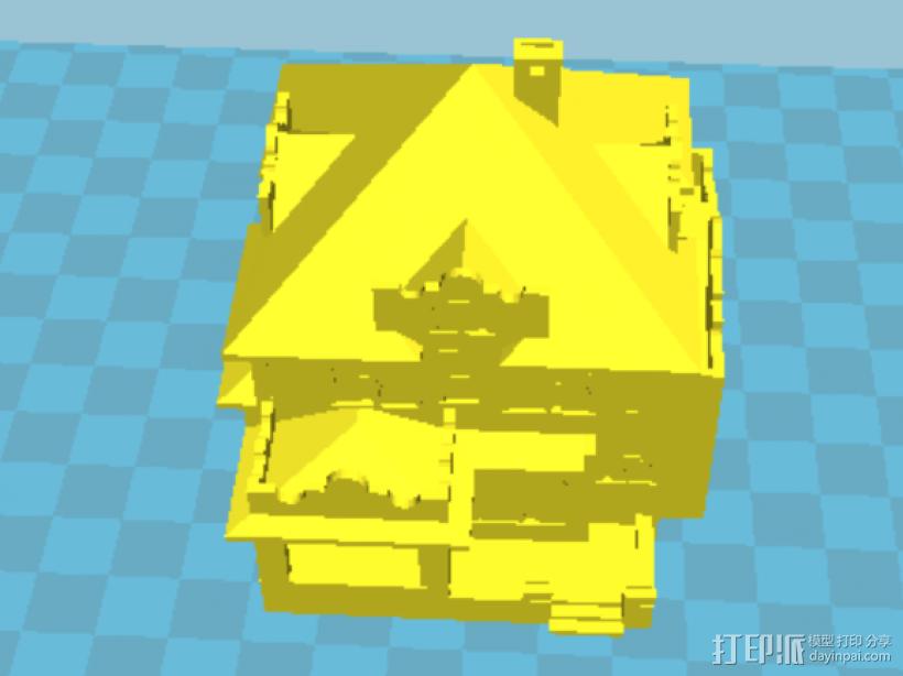 2层小洋房 3D模型  图1