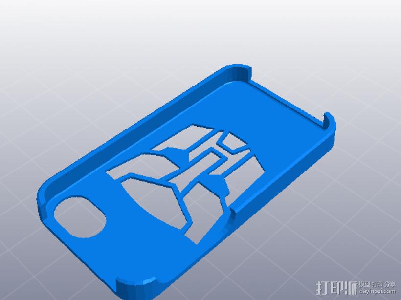 IPHONE 4 -4S手机壳 3D模型  图1