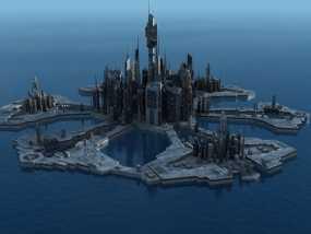 星际之门亚特兰蒂斯城(俗称A城) 3D模型
