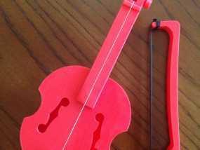 小提琴 3D模型