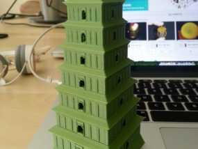 著名的大雁塔 3D模型
