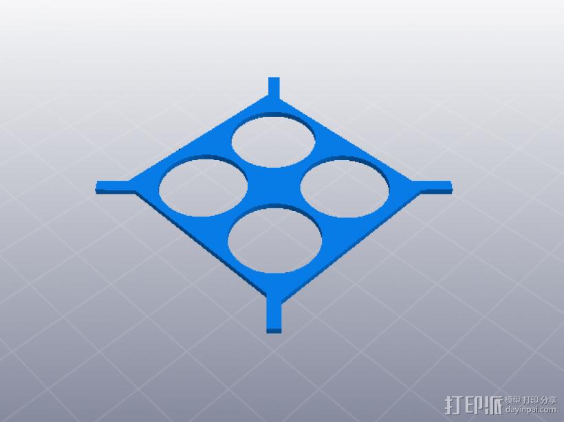 4轴迷你无人机 3D模型  图3