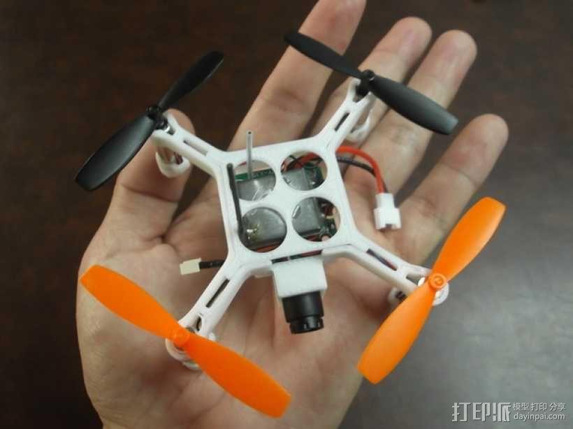 4轴迷你无人机 3D模型  图1