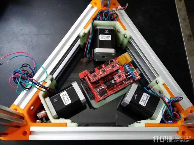 2040立柱的3D打印机 3D模型  图1