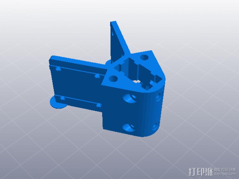 2040立柱的3D打印机 3D模型  图7