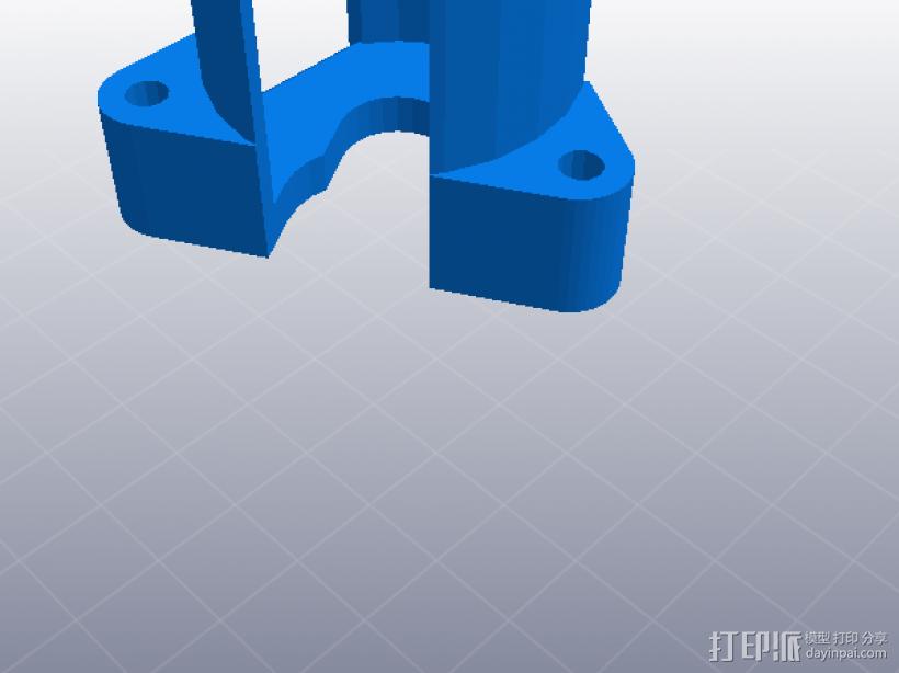 U型卡位 3D模型  图4