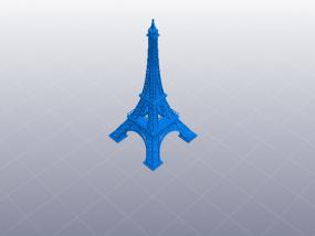 法国巴黎埃菲尔铁塔 3D模型