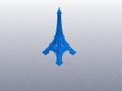 法国巴黎埃菲尔铁塔 3D模型 图1