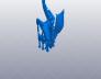 威猛的龙 有翅膀 3D模型 图1