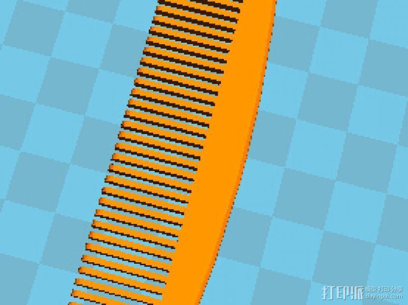梳子 3D模型  图1
